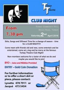 Club Night April 2016