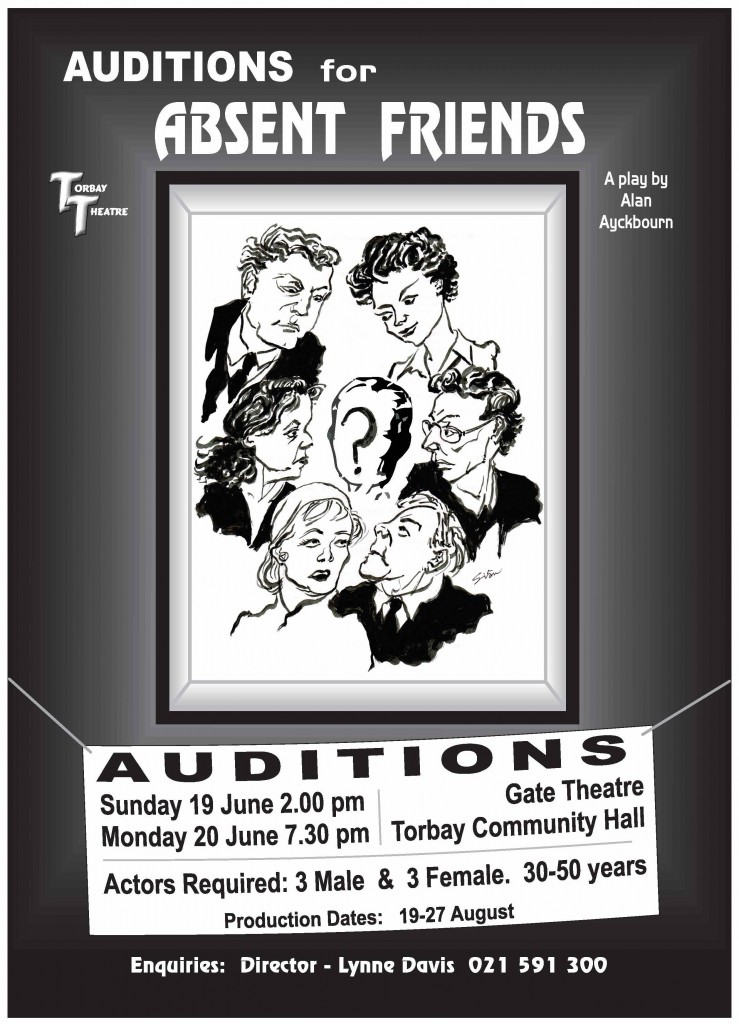 Absent Friends Auditions Poster