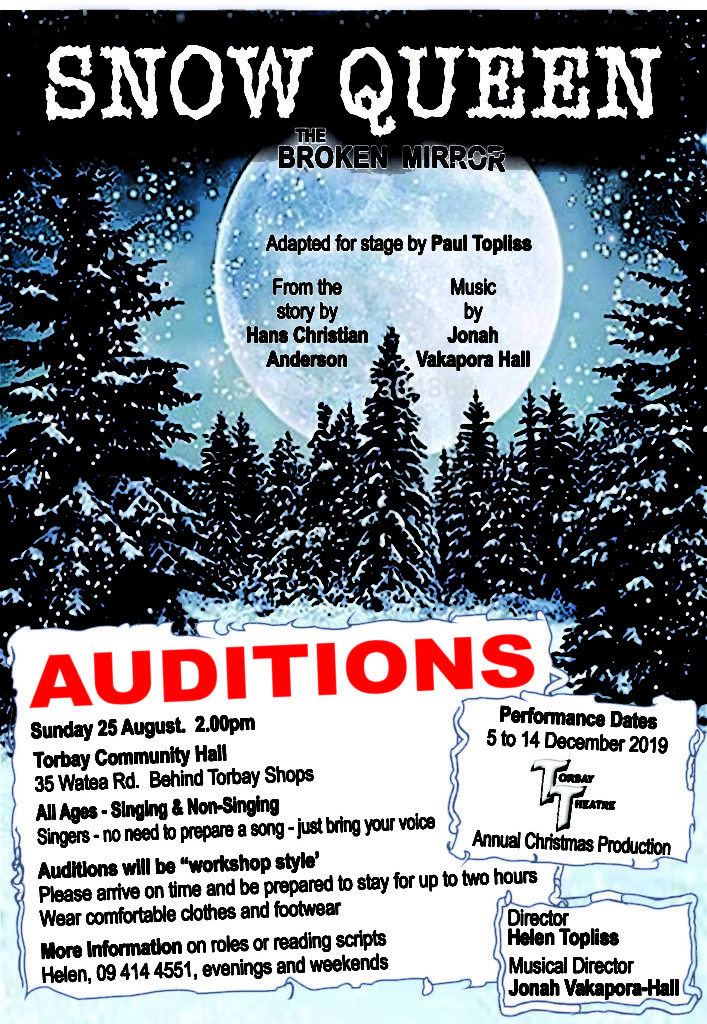 Auditions Snow Queen
