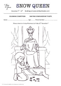 Snow Queen Colouring Competition From