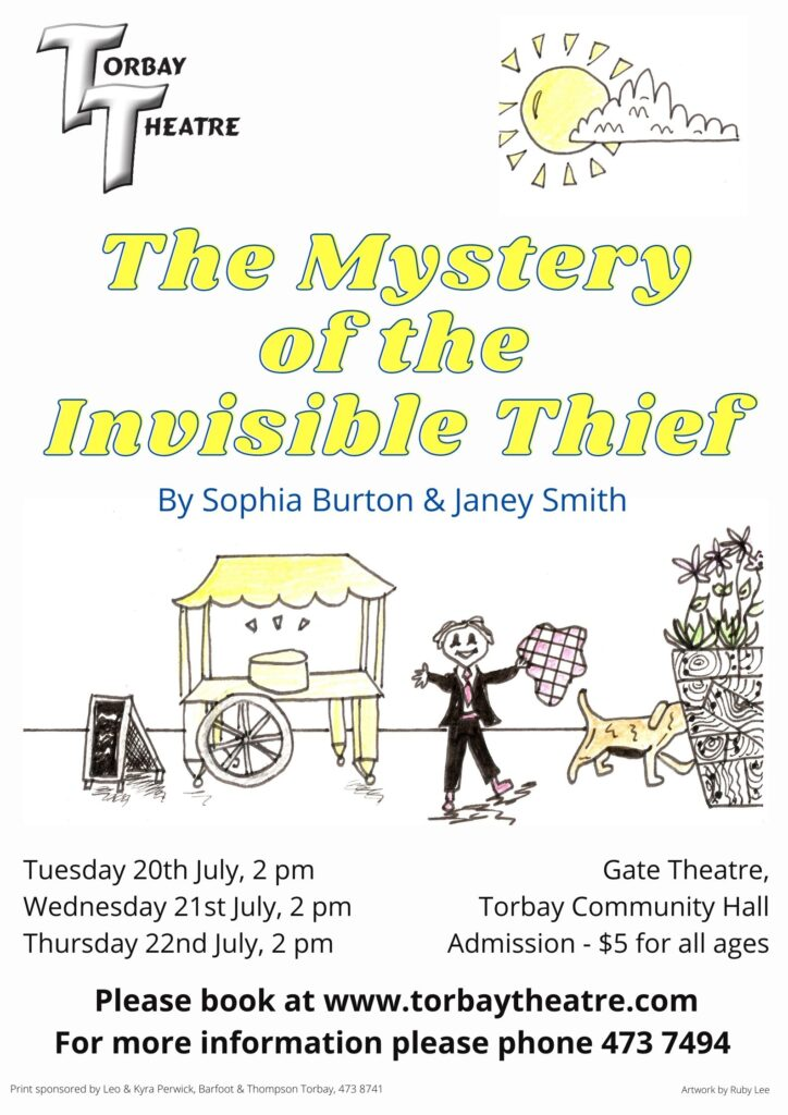 Poster The Mystery of the Invisible Thief by Sophia Burton & Janey Smith